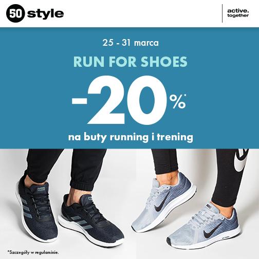 20% na buty running i trening w 50 Style Galeria Grodova