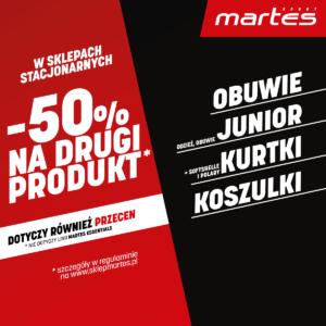 Zyskaj rabat -50% na drugi produkt w Martes Sport!