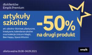 -50% na drugi produkt dla klientów Empik Premium!